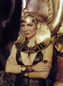 When Claudette Colbert arrived at the filming of Cleopatra, she had her costumes redesigned more glamorous.