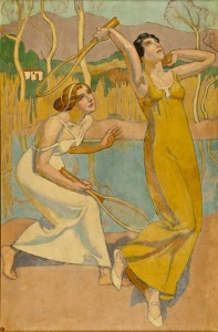 "Influence of Art Nouveau and Classicism; Maurice Denis: ""Nausikaa"", 1914, oil on canvas. Musée national du Sport, Paris. © ADAGP  Photo Michel Erlich"