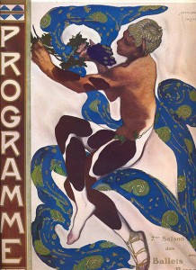 "Leon Bakst designed the costumes, sets and the program for ""Afternoon of a Faun"", 1912."