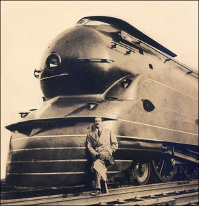 With the help of designers as Raymond Loewy, Art Deco became streamlined in the 1930's to early 40's. Loewy designed everything from trains and buses to kitchen- and tableware.