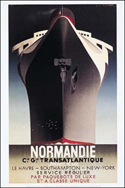 Legendary graphic designer and painter Cassandre's 1935 poster for S/S Normandie