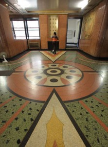 Art Deco lobby at a Grand Concourse apartment building. Photo: Sara Krulwich/N.Y.Times