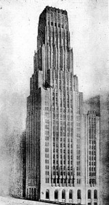 Eliel Saarinen's influential entry for the Chicago Tribune Tower competition, 1022.