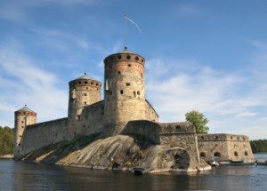 The medieval castle in the rapids is the venue for the Savonlinna Opera Festival.