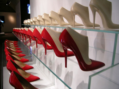 The evolution of a shoe, a daring stiletto heel pump – an architectural statement for femininity.