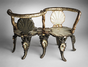 A Venetian double chair from the 19th century. Collection of the National Museum of Finland.