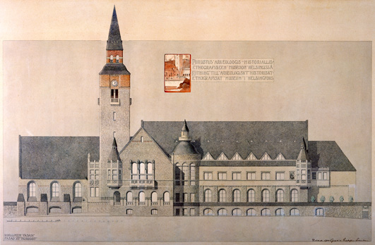 The National Museum of Finland Plan by the architects Gesellius-Lindgren-Saarinen. completed in 1910 in Helsinki. (Photo credit: The National Museum)
